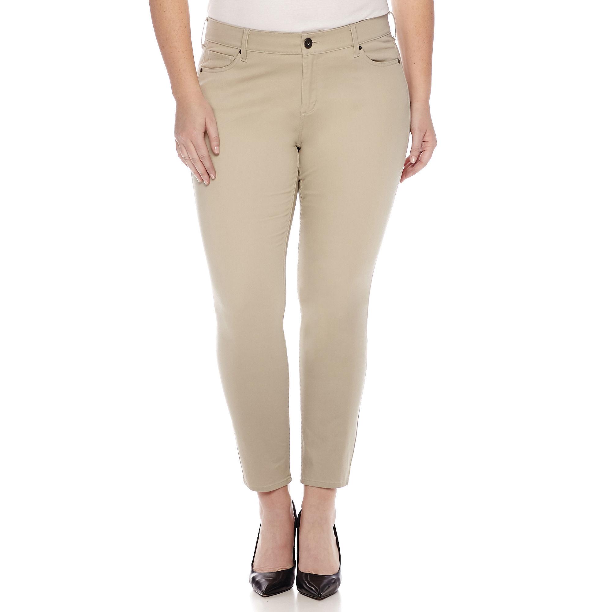 Arizona Sateen Skinny Pants - Juniors Plus plus size,  plus size fashion plus size appare