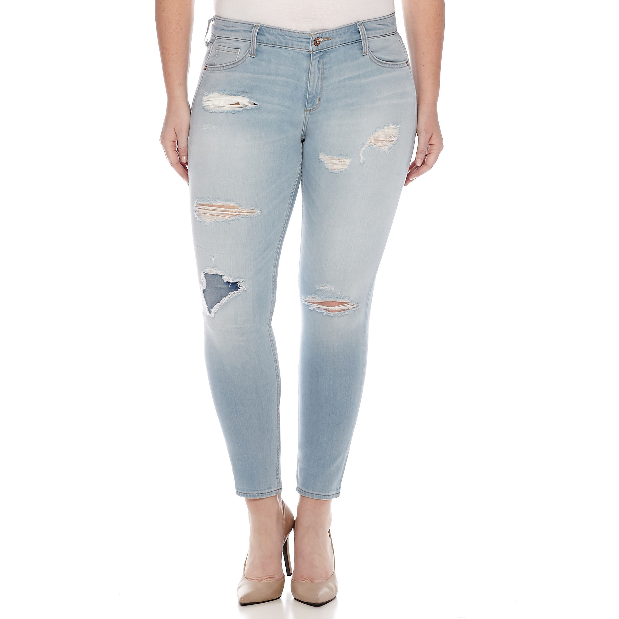 Arizona Skinny Jeans - Juniors Plus plus size,  plus size fashion plus size appare