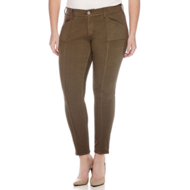 jcpenney.com | Arizona Seamed Twill Jeggings - Juniors Plus