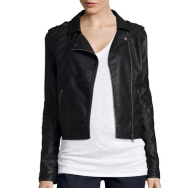 jcpenney.com | Arizona Faux Leather Moto Jacket - Juniors