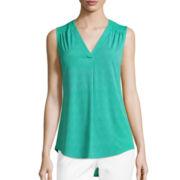 Liz Claiborne® Sleeveless Knit Top - Tall
