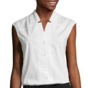 Worthington® Sleeveless Notched-Neck Top - Tall