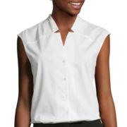 Worthington® Sleeveless Notched-Neck Top - Tall