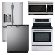LG Ultra Large Capacity French-Door Kitchen Package-  Stainless Steel