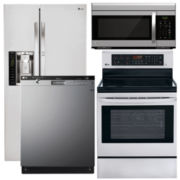 LG Side-by-Side 4-pc. Kitchen Package- Stainless Steel