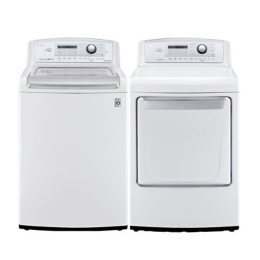 jcpenney.com | LG 4.9 cu. Ft. Top Load Washer and 7.3 cu. Ft. Gas Dryer Bundle