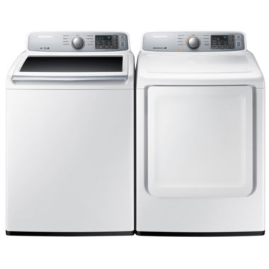 jcpenney.com | Samsung Top Load 2-pc. Gas Washer and Dryer Set- White