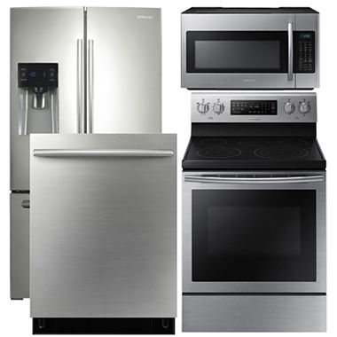 Samsung 4 Pc Electric Kitchen Package Stainless Steel Me18h704sfs Aa Jcpenney