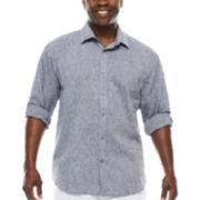 Steve Harvey Long-Sleeve Solid Shirt - Big & Tall