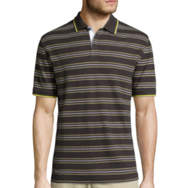 jcpenney.com | Claiborne® Short-Sleeve Interlock Striped Polo