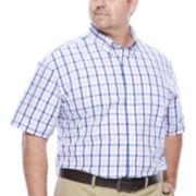 IZOD® Short-Sleeve Woven Button-Front Shirt - Big & Tall