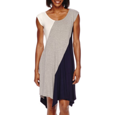 jcpenney.com | Perceptions Sleeveless Knit Colorblock Sheath Dress