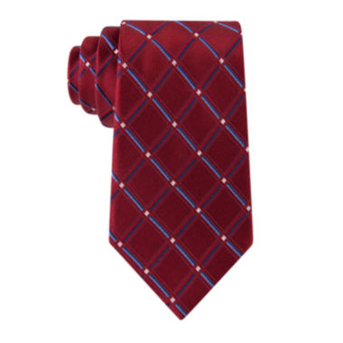 jcpenney.com | Stafford® Lakeside Grid Silk Tie