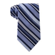 Stafford® Boardroom Stripe Silk Tie - Extra Long