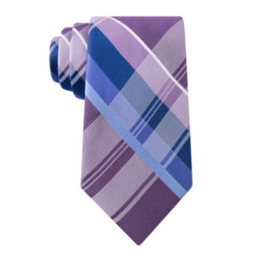 jcpenney.com | Stafford® Lakeside Plaid Silk Tie - Extra Long