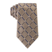 Stafford® Lakeside Grid Silk Tie - Extra Long