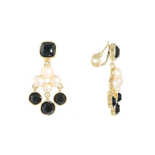 Monet Jewelry Multi Color Clip On Earrings