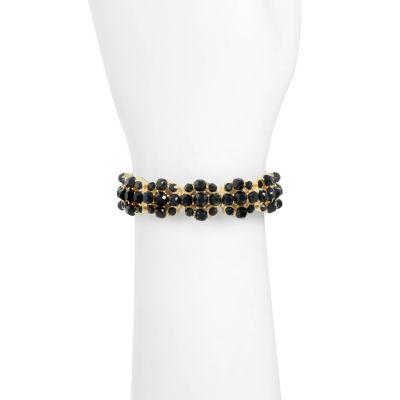 Monet Jewelry Monet Jewelry Womens Black Stretch Bracelet kyYTbEb0