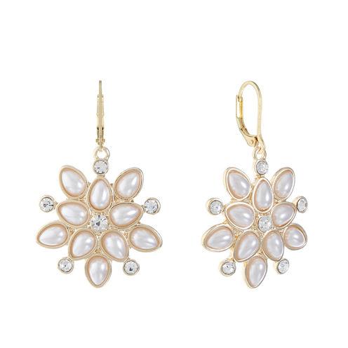 Monet Jewelry White Drop Earrings