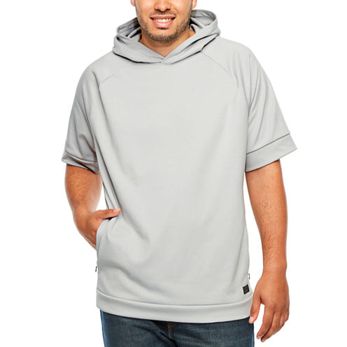 Msx By Michael Strahan Short Sleeve Knit Hoodie-Big and Tall ...
