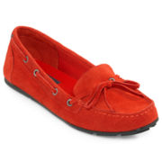 St. John's Bay® Cammie Suede Moccasins