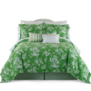 jcp EVERYDAY™ Summer Stroll Grass Green Comforter Set & Accessories