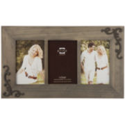 "Lillie Scrolls Wooden 3-Opening 4x6"" Collage Picture Frame"