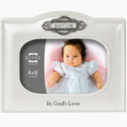 "Count Your Blessings Baptism 4x6"" Picture Frame"