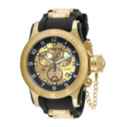 Invicta® Mens Gold-Plated Chronograph Russian Diver Watch