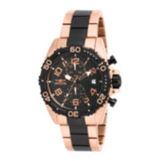 Invicta® Mens Rose Gold and Black Stainless Steel Chronograph Watch