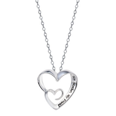 jcpenney.com | Footnotes® My Mother My Friend Heart Pendant Necklace