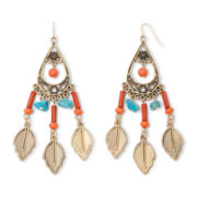 Decree® Leaf Teardrop Earrings