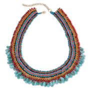 Decree® Multi-Color Bead Collar Necklace