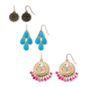 Decree® Novelty Drop 3-pr. Earring Set