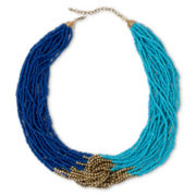 Carole Blue Seed Beads Multi-Strand Necklace