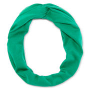 Carole Love Knot Solid Green Head Wrap