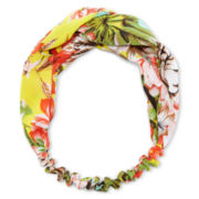 Carole Love Knot Yellow Floral Head Wrap