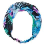 Carole Love Knot Blue Floral Head Wrap