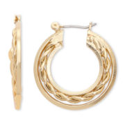 Liz Claiborne® Gold-Tone Thin Hoop Earrings