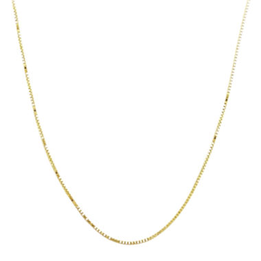 "jcpenney.com | 14K Yellow Gold 18"" Semi-Solid Box Chain"
