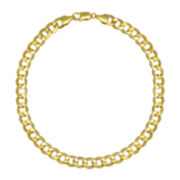 "10K Yellow Gold 22"" Hollow Curb Chain"
