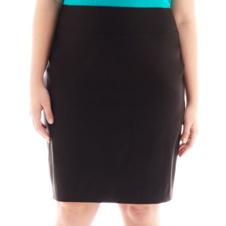 by & by Mill Pencil Skirt - Plus