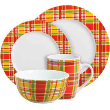 jcpenney.com | Oui by French Bull™ Plaid 16-pc. Dinnerware Set