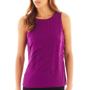 Worthington® Sleeveless Tiered Blouse