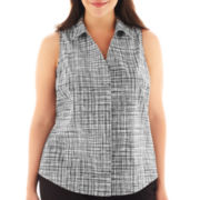 Worthington® Sleeveless Shirt - Plus