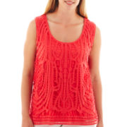 a.n.a® Lace-Front Tank Top - Plus