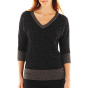 Worthington® Dolman-Sleeve V-Neck Sweater