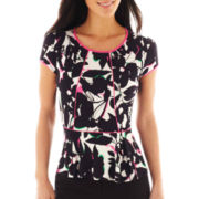 Worthington® Tipped Peplum Top