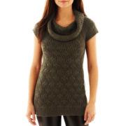 Worthington® Textured Cowlneck Tunic Sweater