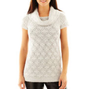 Worthington® Textured Cowlneck Tunic Sweater